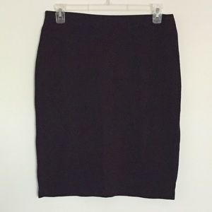 Ponté knit pencil skirt gold zip 12